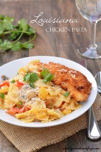 Louisiana Chicken Pasta | Garnish & Glaze