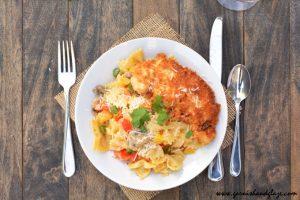 Louisiana Chicken Pasta   Garnish & Glaze