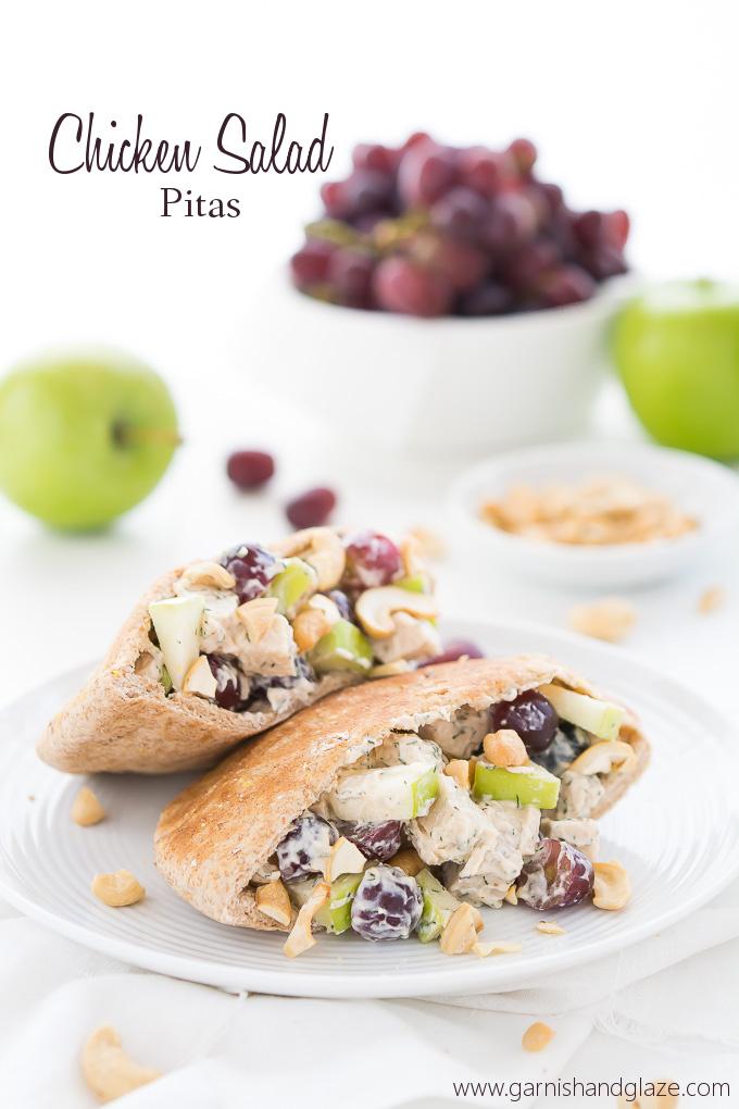 Chicken Salad Pitas | Garnish & Glaze
