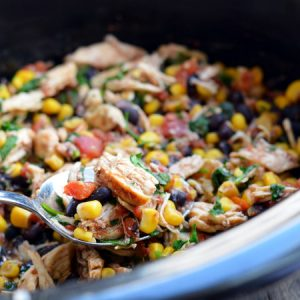 Crock-Pot Mexican Chicken   Garnish & Glaze