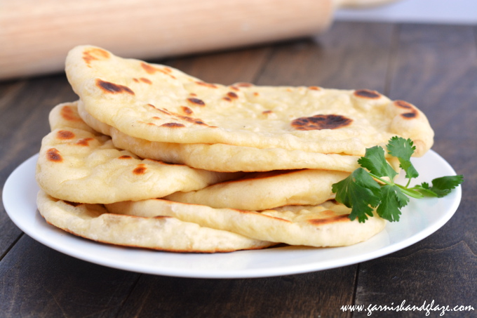 Naan- Indian Flat Bread | Garnish & Glaze