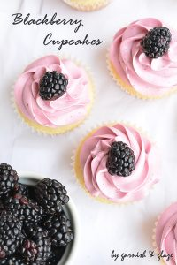 Blackberry Cupcakes   Garnish & Glaze