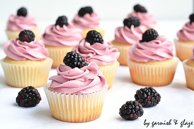 Blackberry  Cupcakes | Garnish & Glaze