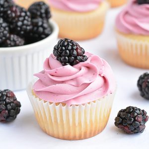 Blackberry Cupcakes | Garnish & Glaze