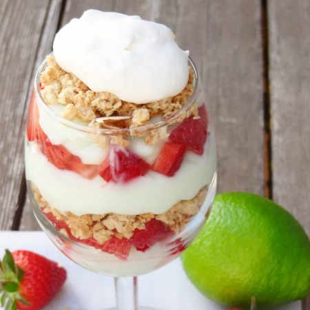 Strawberry Key Lime Parfaits
