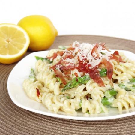 Fusilli with Asparagus and Crispy Prosciutto