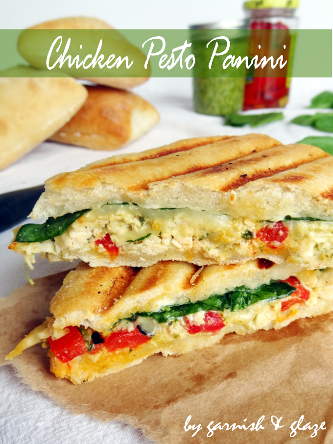 Chicken Pesto Panini - Garnish & Glaze