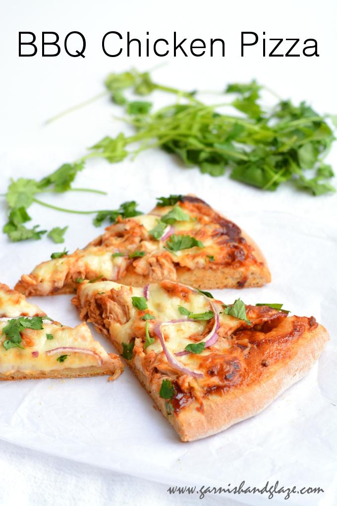 BBQ Chicken Pizza - Garnish & Glaze