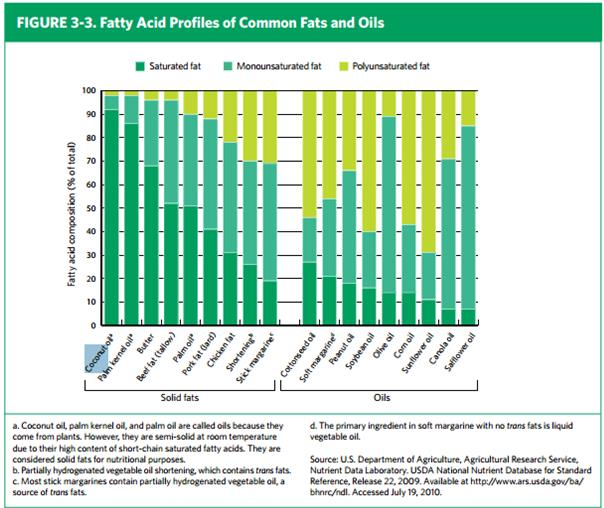 fatty acid comparison
