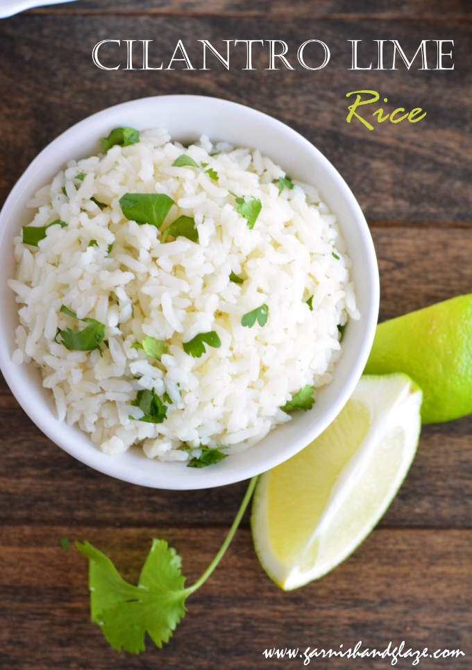 Cilantro Lime Rice | Garnish & Glaze