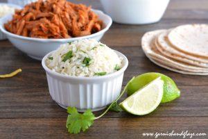 Cilantro Lime Rice   Garnish & Glaze