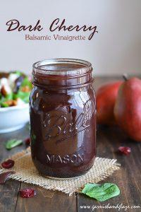 Dark Cherry Balsamic Vinaigrette   Garnish & Glaze