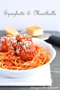 Spaghetti & Meatballs | Garnish & Glaze
