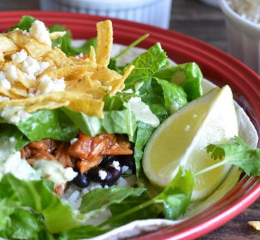 Sweet Pulled Pork Salad {Cafe Rio Copycat} | Garnish & Glaze