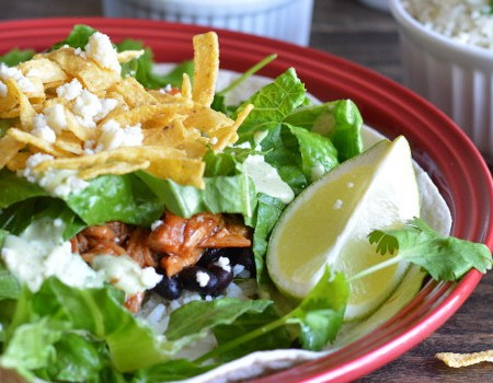 Sweet Pulled Pork Salad {Cafe Rio Copycat}