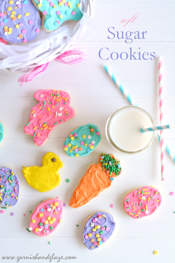 Soft Sugar Cookies | Garnish & Glaze