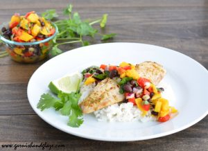 Tilapia with Mango Salsa   Garnish & Glaze