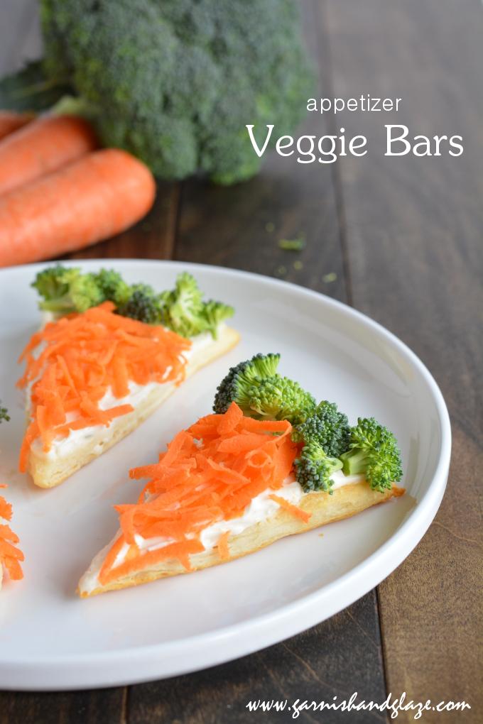 Veggie Bars   Garnish & Glaze