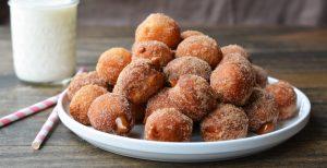 Dulce de Leche Churro Donut Holes   Garnish & Glaze