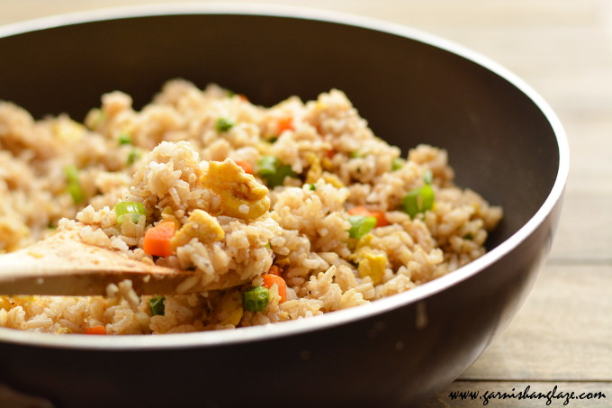 Vegetable Fried Rice | Garnish & Glaze