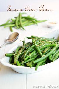 Sesame Green Beans   Garnish & Glaze