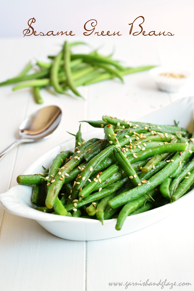 Sesame Green Beans | Garnish & Glaze