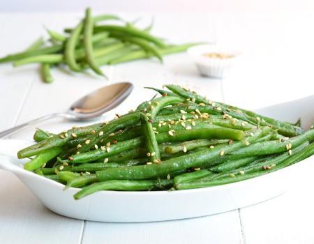 Sesame Green Beans | Garnish & Glaze