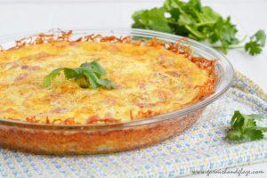 Cheesy Hash Brown Quiche | Garnish & Glaze