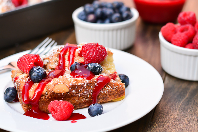 Overnight Coconut-Almond French Toast