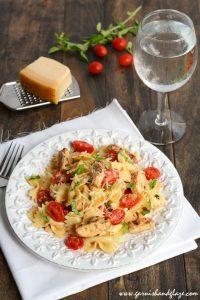 Grilled Chicken Pasta Salad | Garnish & Glaze