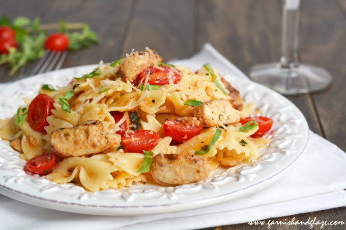 Grilled Chicken Pasta Salad | Garnish & Glaze