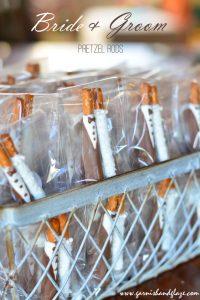 Bride & Groom Pretzel Rods | Garnish & Glaze