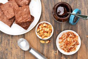 Chocolate CocoNUT Brownie Sundae | Garnish & Glaze