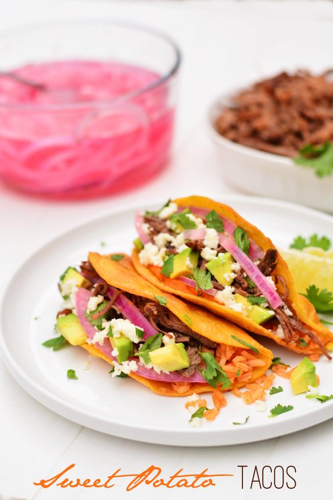 Sweet Potato Tacos   Garnish & Glaze