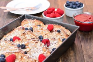 Overnight Coconut-Almond French Toast Casserole | Garnish & Glaze