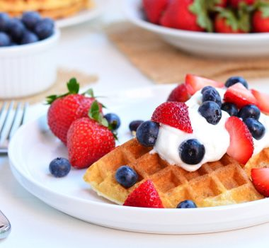 Waffles with Berries and Cream | Garnish and Glaze