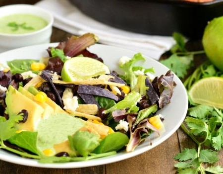 Chipotle Chicken Salad with Cilantro Lime Dressing