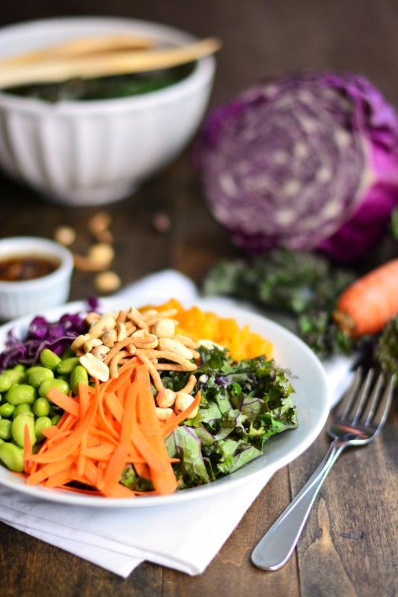 Asian Kale Salad | Garnish & Glaze