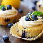 Lemon Blueberry Cupcakes | Garnish and Glaze
