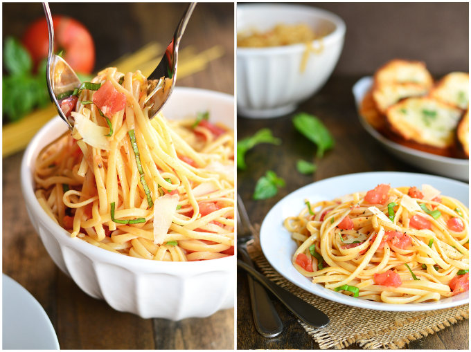Bruschetta Pasta   Garnish and Glaze