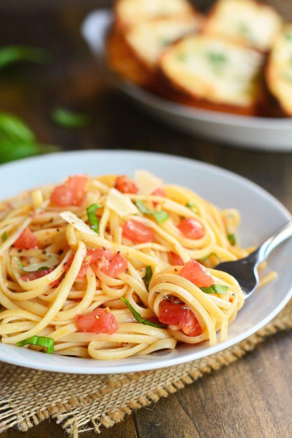 Bruschetta pasta - Recipes - delicious.com.au   Bruschetta And Spaghetti