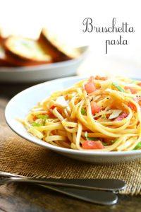 Bruschetta Pasta | Garnish and Glaze