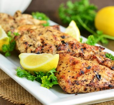 Grilled Lemon Pepper Chicken | Garnish & Glaze