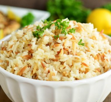 Simple Orzo Rice Side Dish | Garnish & Glaze