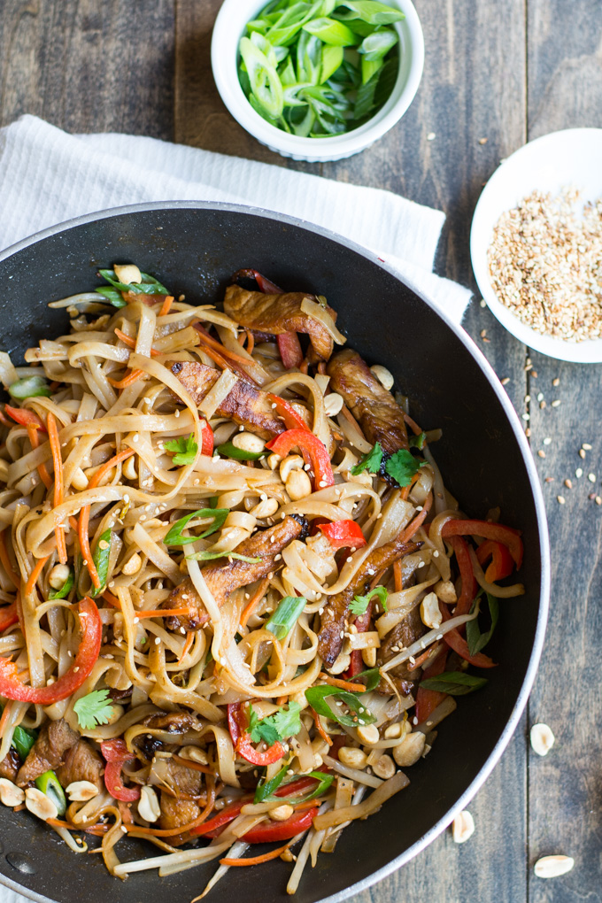 Pork Pad Thai | Garnish & Glaze