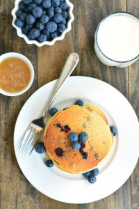 Whole Wheat Blueberry Buttermilk Pancakes | Garnish & Glaze