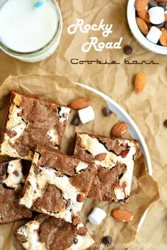 Rocky Road Cookie Bars | Garnish & Glaze