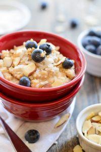 Blueberry Coconut Oatmeal | Garnish and Glaze