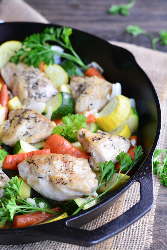 30 Minute Farmers' Market Chicken Skillet | Garnish & Glaze