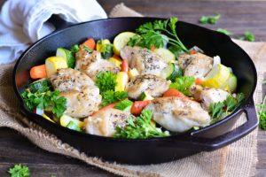 30 Minute Farmers' Market Chicken Skillet | Garnish & Glaze